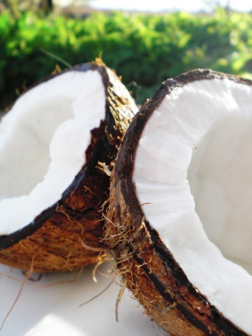 gettingahealthybody:  Fresh coconut.
