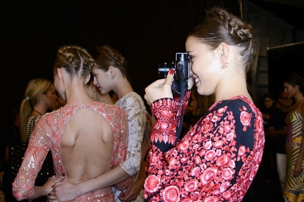 Backstage at Naeem Khan at New York Fashion Week Spring 2014