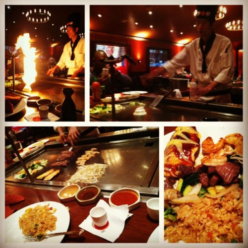 #picstitch #hibachi #samba #onion volcano #steak #salmon #shrimp