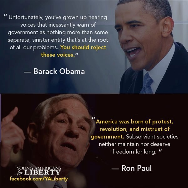 Ron Paul has his merits, and Obama…well, Obama always has his creepiness.