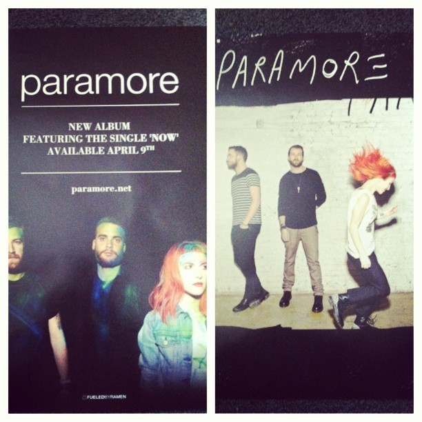 #Paramore posters came in. Check out their new single #ParamoreNow and their new album coming soon. @fbrstreetteam