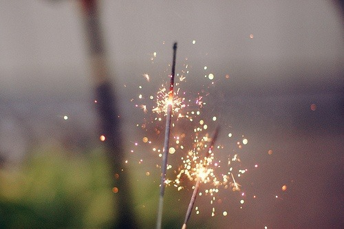 I wish I wasn't terrified of sparklers because they look so pretty and all I want to do is write my name in the air with one of them like everybody else gets to