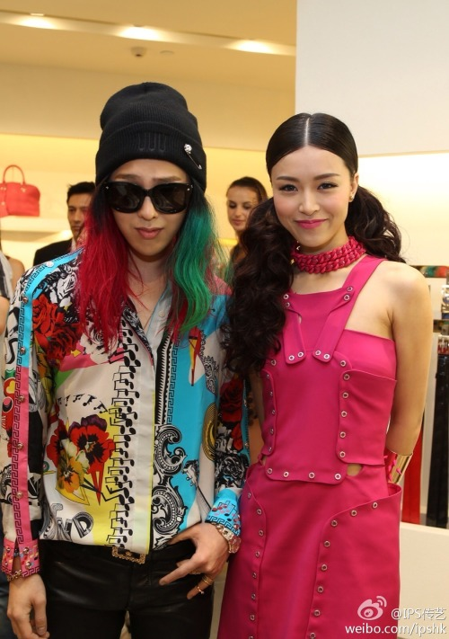 ygfamilyy:  GD with Actress/Model Janice Man @ 130519 Versace Store Opening in Hong Kong!