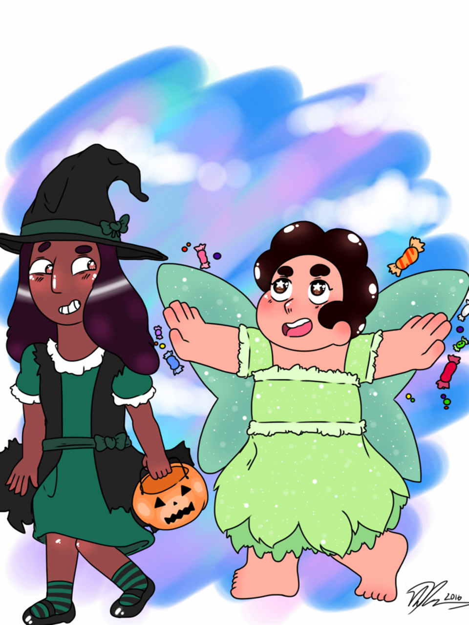 The cinnamon rolls go Trick-or-treating 💖 ( @stevenquartz Please enjoy these pure children spending time together )