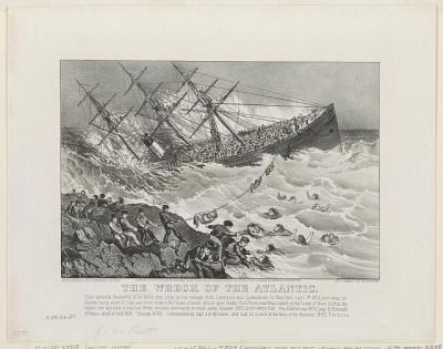 The Wreck of the Atlantis (engraving)