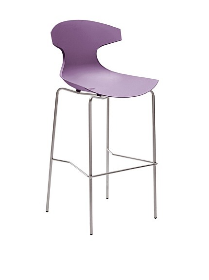 "Domitalia Echo Stool, Lilac  Echo is Domitalia's best-selling design, suitable for indoor and outdoor use, stackable Material type: Steel, Polypropylene Country of origin: Italy Authentic product  Item Dimensions: height 44.5"", width 19.75"", depth 21"" Price: $212"