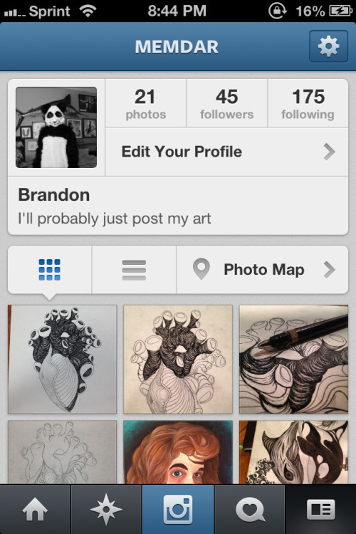 Hello people with iPhone's; you should follow my Instagram, because I've been posting my art more on there than here
