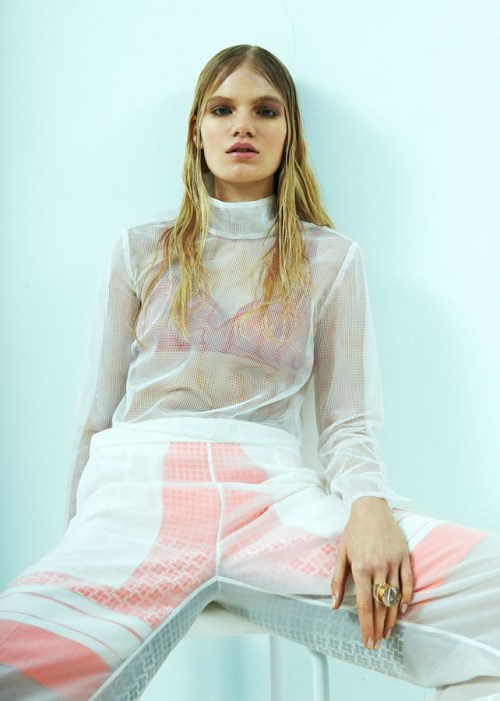 Eleonora Baumann by Brett Lloyd for SSAW S/S 2013