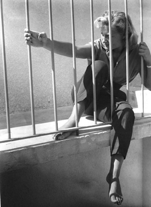 lauramcphee:  Ragazza alla ringhiera (Girl at the railing), c1950 (Federico Vender)