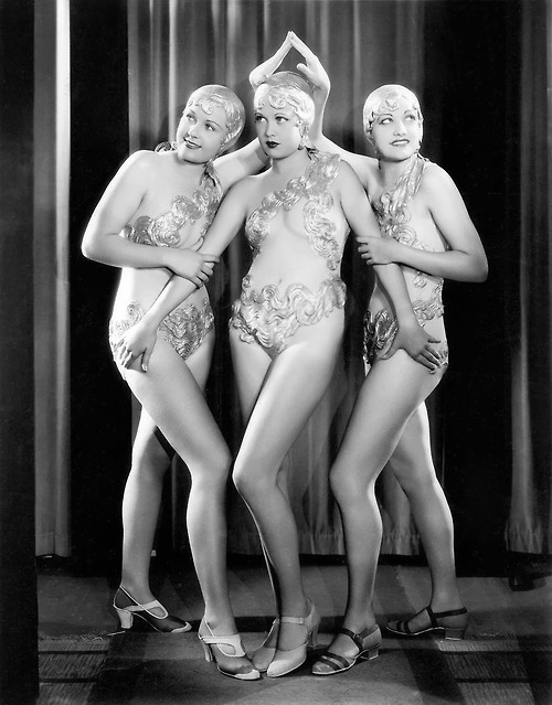 "Chorus girls in a publicity photo for ""Footlight Parade""(1933)"