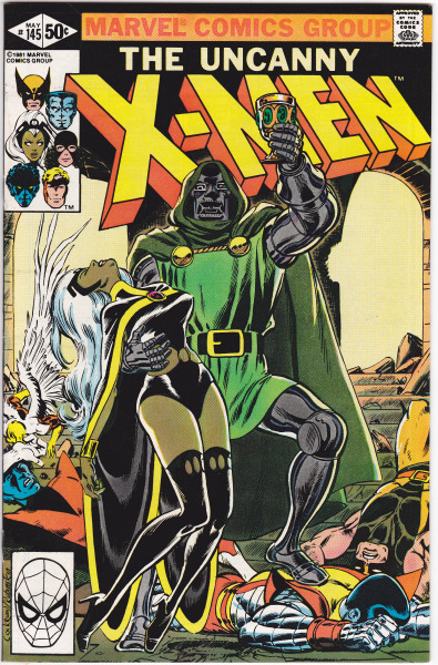 "jthenr-comics-vault:  Uncanny X-Men #145 (May 1981)""Kidnapped!""Art by Dave Cockrum & Joe RubinsteinStory by Chris Claremont Storm leads the X-Men to Doom's castle in order to rescue Arcade. Storm has dinner with Doom, distracting him while the other X-Men look for Arcade's cell. All the while, Doom has been monitoring the team and sends his minions to capture them. When his men fail to stop the X-Men, Doom stops his dinner party with Storm then fights and defeats them all. I had been looking for this issue for a while. It's been reprinted in a ton of X-Men comics & books, so I was happy when I finally found an original copy. Also  Doom flirting with Storm, all while planning her and the X-Men's defeat, is pretty awesome"