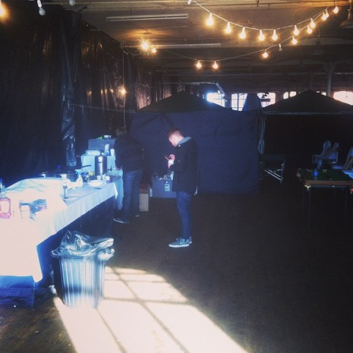 Breakfast catering/make-up tent…video shoot!