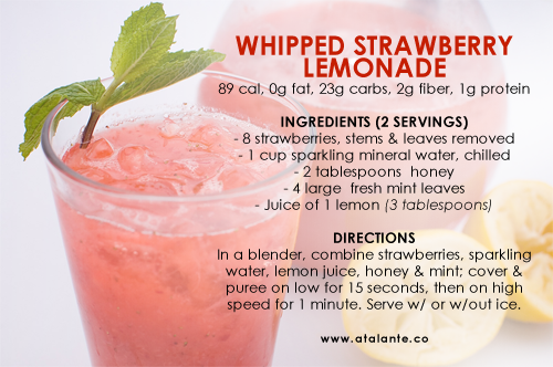 healthier-habits:  89 Calories - Whipped Strawberry Lemonade
