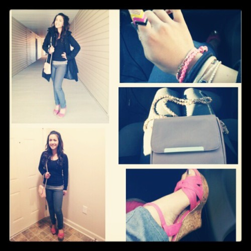 #outandabout #ootd #ootn #pink #armcandy #wedge #chevron #ring #fashion #instagramers #igers #instaawesome #igdaily #potd #fotd #self #me #solo #smile #outfit #weekend #narcissism