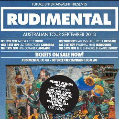Rudimental this September in my neighbourhood! Anyone else considering going to this?  (at Eatons Hill Hotel & Function Centre)