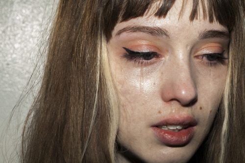 jordantiberio:  A Self Portrait Through Her (Nika in Tears), New York City. April 2013.