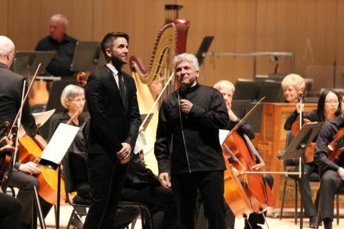 The Toronto Symphony Orchestra Music Director Peter Oundjian during a Q&A with Owen Pallett before the Première of Pallett's Violin Concerto.