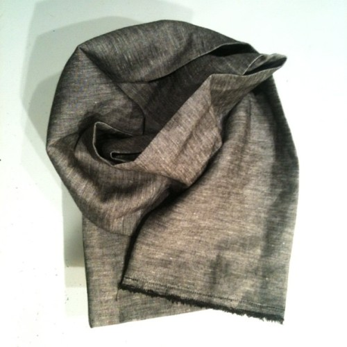 …chambray scarf. #honed