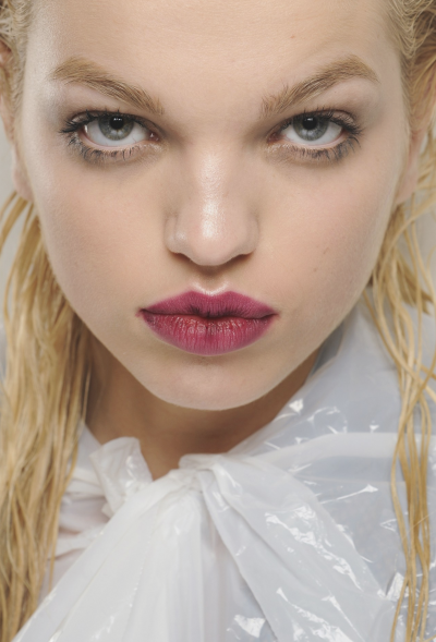 Daphne Groeneveld backstage at Prada Fall 2013, Milan