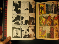 "comicsworkbook:  9 panel grid trivia - Love and Rockets / Watchmen SANTORO: So when we were traveling around this week there was something you mentioned, Jaime. I can't remember which signing it was or little interview bit, but you were talking about … oh I think it was at the Philadelphia thing, they showed a slide from ""100 Rooms,"" and you started talking about the 9-panel grid of ""100 Rooms."" And you said that Alan Moore really liked that grid and that he was going to use it forWatchmen. And I had never heard that story, so I thought I could just ask you to riff on that a little bit. JAIME: Yeah. It's basically what you just said. I mean, it was that simple. In an interview or something he just said, ""I really love the story ""100 Rooms"" and I love that grid. So we used that for Watchmen."" He just said exactly what you said. And after that, that was it. Of course in the back of my head, Watchmen became legendary in the comics circles and stuff. And I thought, well, guess what? At the time when he said it I go, ""You're going to use this 9-panel grid? Anyone can use a 9-panel grid."" It wasn't the — GILBERT: It's not a fancy grid. I mean, it wasn't magic. from TCJ interview here"