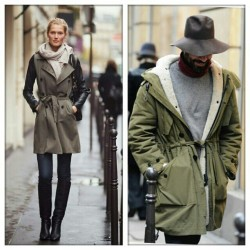 Imaginary couple: military green