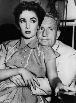 Elizabeth Taylor and Spencer Tracy.