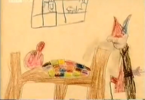 Robert Wyatt drew this when he was a kid thanks simon