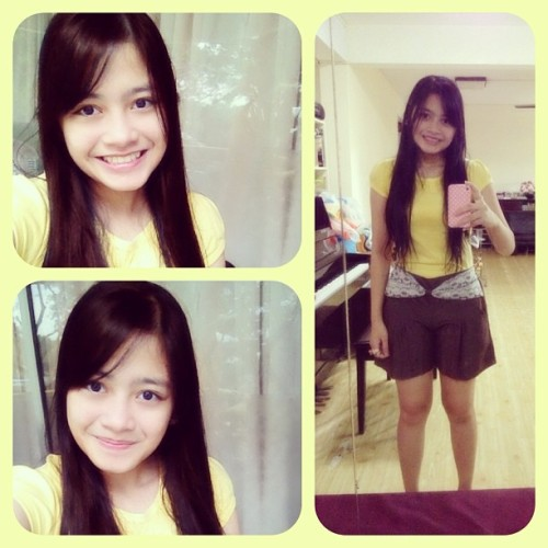 Went out ☺ yellow! 💛  #ottd #ottn #me #smile #teeth #yellow #happy #simple #outfit