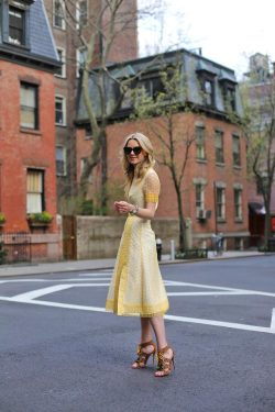 toryburch:  G is for Golden Bright and sunny yellow — and the perfect style statement for summer. Atlantic Pacific's Blair Eadie in Tory's Isidor Dress