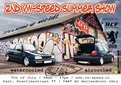 the guys from the dutch vw club VW-SPEED are organising their second vw-speed summershow, and for the aircooled part they invited us the UDB's and our friends from the aircooled-folks (ACF) to take care of that part..so be shure to take a look on july the 7th!