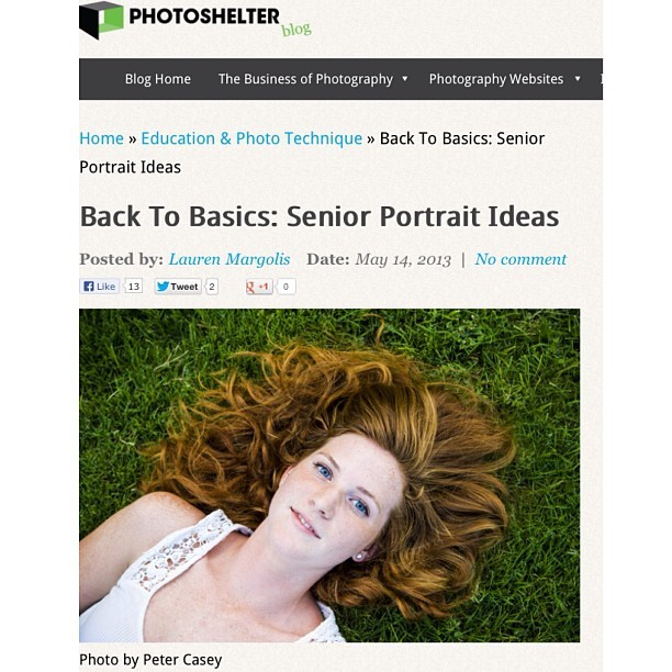 (Sorry for the screen shot) I was featured in the Photoshelter blog for my senior portraits. Check it out.      http://blog.photoshelter.com/2013/05/senior-portrait-tips/
