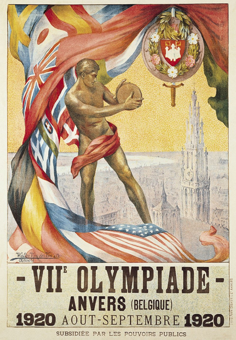 beautiful-belgium:  Poster for 1920 Olympics in Antwerp, Belgium