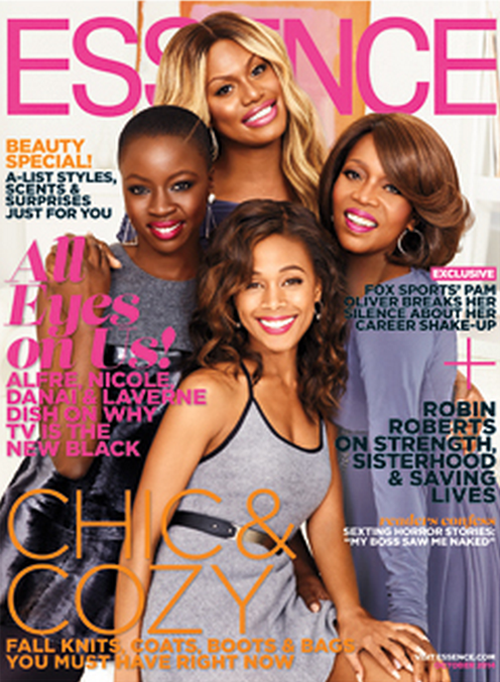 samwilsonbootyenthusiast:kiarasnaps:Alfre Woodard, Laverne Cox, Nicole Beharie &ampDanai Gurira on ESSENCE's October CoverAll my favesnone of these women need photoshop and it&#8217s just making them look like wax figures but i&#8217m glad they are all on the cover together!!!