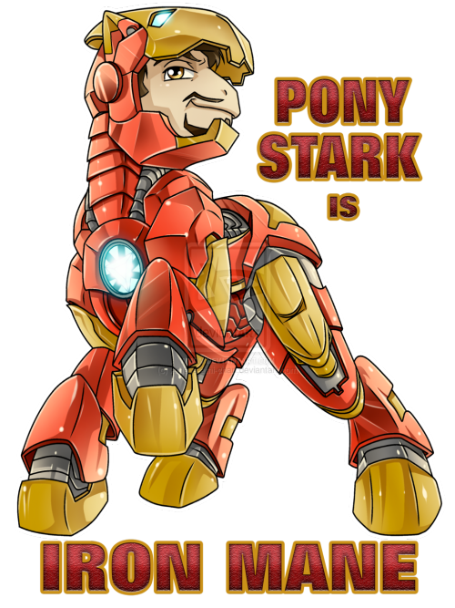 theponyartcollection:  Pony Stark is Iron Mane by ~Amelie-ami-chan