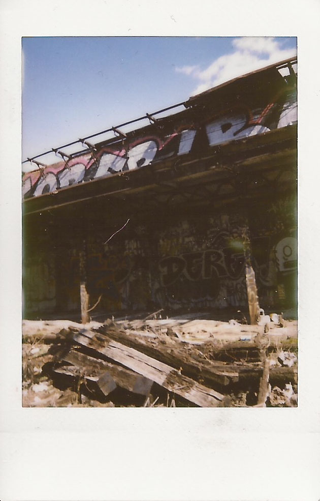 rosiesimmons:  Reading Viaduct (taken with fujifilm instax)  More cool photography to check out! Also, I've been kind of wanting to get a fujifilm instax camera, and apparently it gives some cool results. So, if I ever get any money, might have to consider getting one.