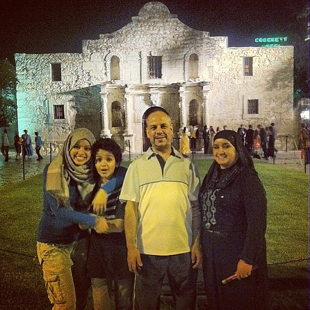 Night at the #Alamo Thanks to @zinebhafassa and Ahmed!!! 🌃🌛 #downtown #sanantonio