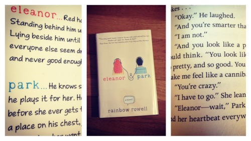 "16 : Eleanor & Park by Rainbow Rowell""Damn, damn, damn,"" she said.  ""I never said why I like you, and now I have to go.""""That's okay,"" he said.""It's because you're kind,"" she said.  ""And because you get all my jokes…""""Okay."" He laughed.""And you're smarter than I am.""""I am not.""""And you look like a protagonist.""  She was talking as fast as she could think.  ""You look like the person who wins in the end.  You're so pretty, and so good.  You have magic eyes,"" she whispered.  ""And you make me feel like a cannibal."" I loved this book.  Like, read-in-one-day-ignore-everything-else loved.  Thanks for the recommendation, John Green."