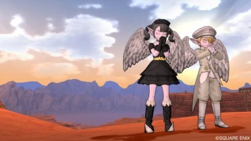 夕焼けの双子天使