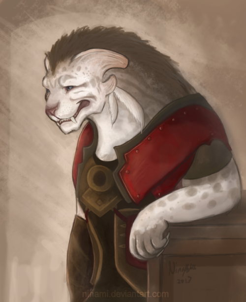 thecharmingcharr:  whitecharr:  (via Lightbringer Tybalt Leftpaw by ~Ninami on deviantART)  Tybalt… :'(  Dearest Tybs…