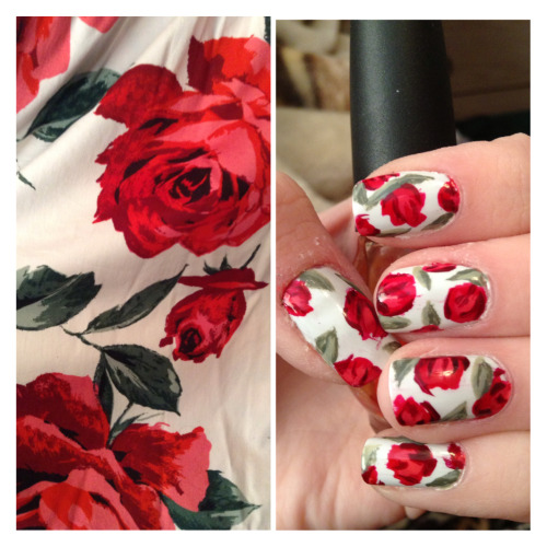 nail inspo nails roses valentines day personal valentine& 039;s day valentine& 039;s nails