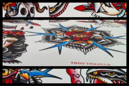 Little sneak peek of my contribution for the #tattooersunited benefit book being put together by @codyrutland1 and @joshcartertattoo all proceeds from the book will go to the families affected by the sandy hook tragedy. The original painting will be auctioned off with the proceeds going to the Victoria Soto scholarship fund at ECU. A website for pre/ordering the book should be available soon, ill post more info when it's up!