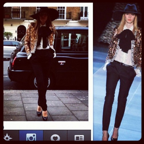 @anna_dello_russo in @ysl… I've often dream of wearing this outfit ;* #instaglam #regram #lfw #fashion