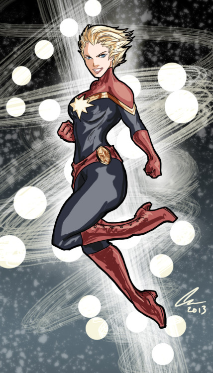 Captain Marvel (Carol Danvers) // artwork by *Randomality85 (2013)