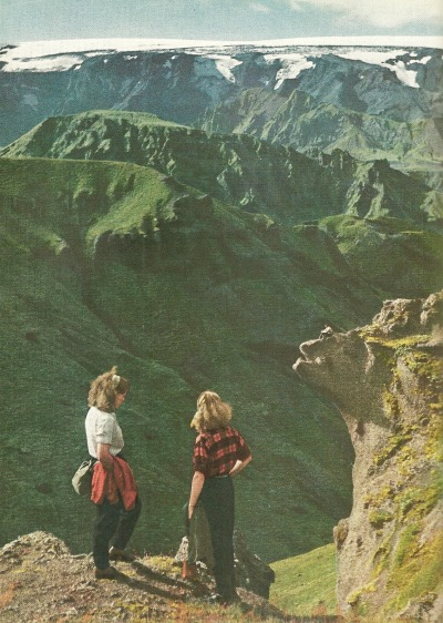 vintagenatgeographic:Lava hills in IcelandNational Geographic | November 1951