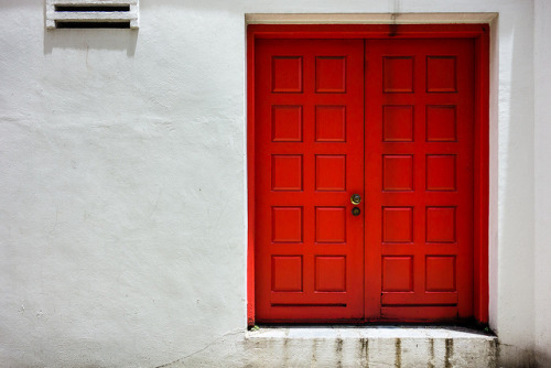Red Door by one black line on Flickr.
