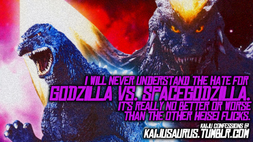 "kaijusaurus:  Kaiju Confessions:  ""I will never understand the hate for GODZILLA VS. SPACEGODZILLA. It's really no better or worse than the other Heisei flicks.""   Yes… yes, it is…"