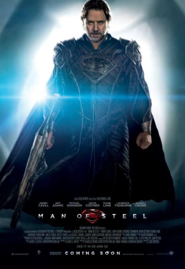 bohemea:  And fierce takes a Kryptonian form in Russell Crowe as Jor-El.  Once John Stamos saw him on a plane and he said he was pretty.