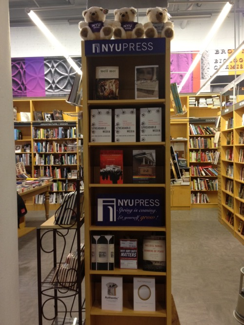 Check out our lovely Spring Feature at the NYU Bookstore!