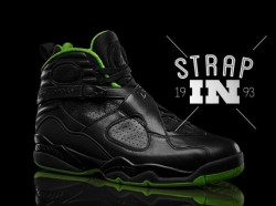 "Air Jordan VIII ""Black/Neon Green"" Collection via sneakernews.com"