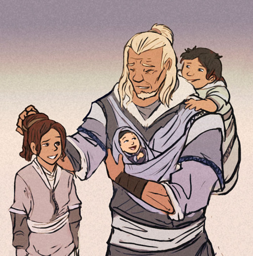 nukilik-fandom:  Grandpa Hakoda, cause he gets no love from the fandom. I think it's beautiful because he missed a lot with his own kids, so I imagine him  trying to be there for his grandchildren. EDIT: Cropped to better fit Tumblr :p